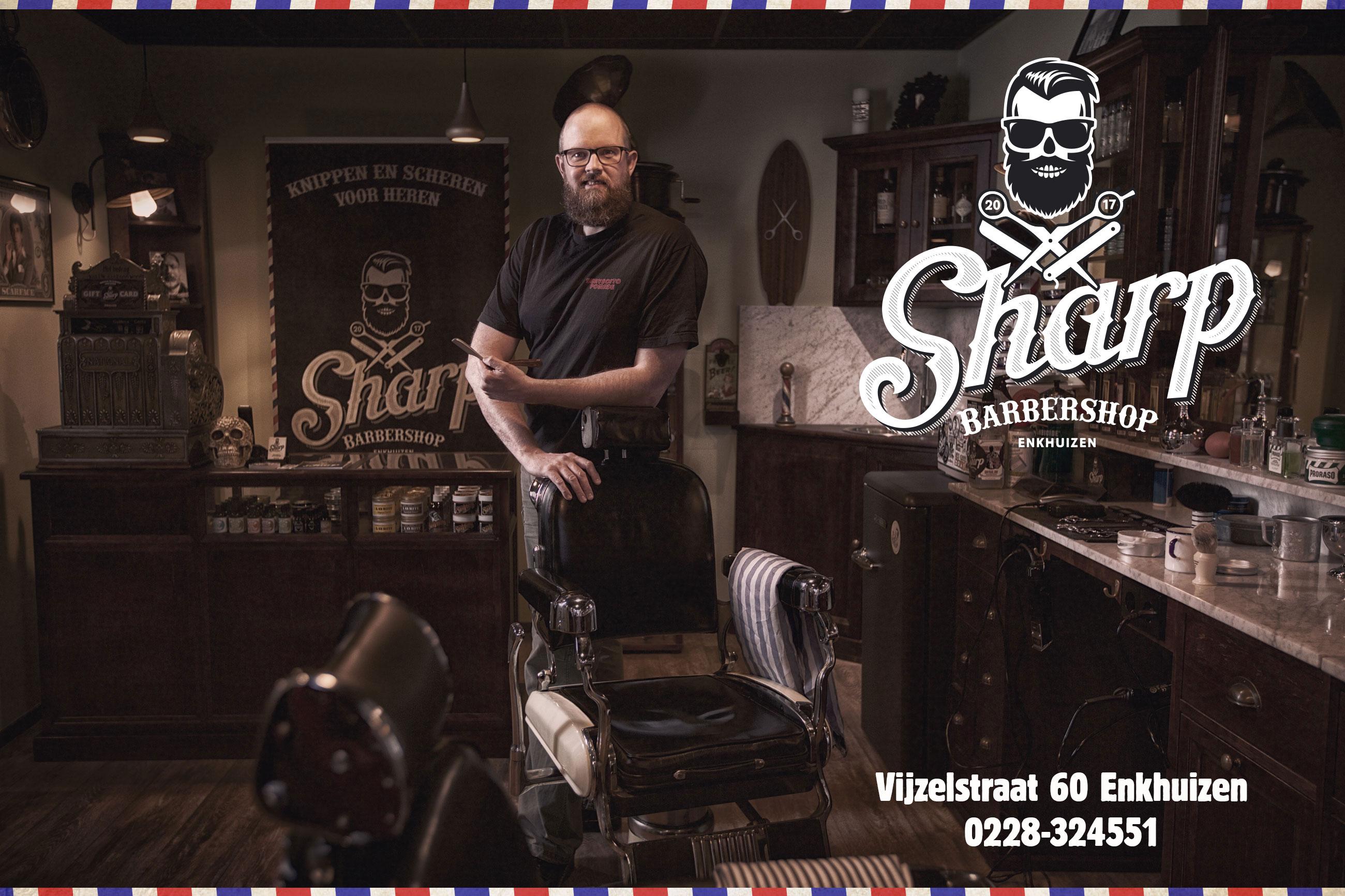 Sharp Barbershop, Enkhuizen, Andijk, Bovenkarspel, Grootebroek, Barbier, Shave